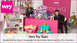 Beauty & The Beast, Despicable Me, Bush Baby World and Zhu Zhu Hamsters Review | Very Toy Team