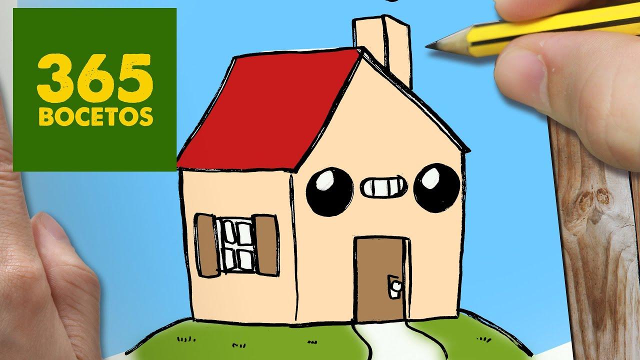 Como dibujar casa kawaii paso a paso dibujos kawaii for Casas para dibujar