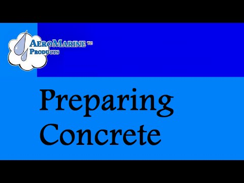 How to prepare a concrete floor for epoxy coating by AeroMarine Products