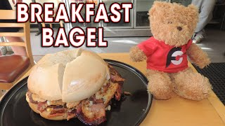BREAKFAST BAGEL SANDWICH CHALLENGE!!