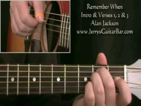 How To Play Alan Jackson Remember When Intro Only Youtube