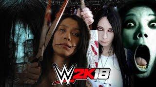 SAMARA vs KAYAKO vs SPLIT MOUTH vs MADNESS ALICE   WWE 2K18 Gameplay