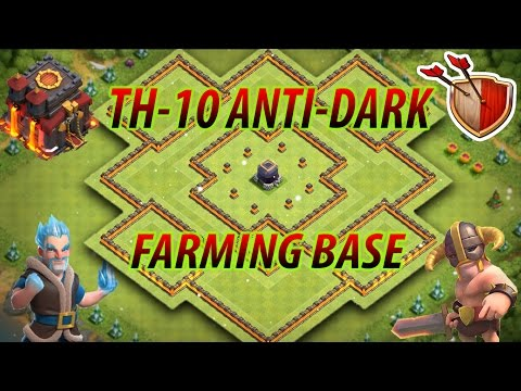 Clash Of Clans | BEST TH10 Anti-Dark Farming Base W/ NEW BOMB TOWERS | TESTED! [2017] #1