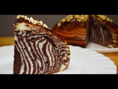 Торт Зебра.Домашний Рецепт.Пирог Зебра.Cake Zebra. Zebra ...