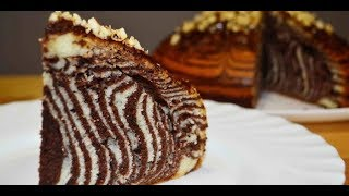 Торт Зебра.Домашний Рецепт.Пирог Зебра.Cake Zebra. Zebra tortu.Zebra keksi.