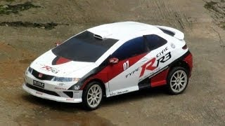 Honda Civic Type R-R3 RC car with papercraft body