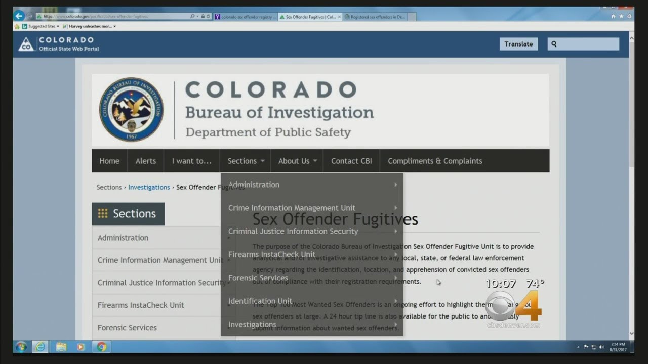 Judge Finds Colorado Sex Offender Registry Unconstitutional YouTube - Us sex offender map