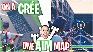 ON A CREATED A 'AIM MAP' TO IMPROVE HIS AIM (SHOOT) on FORTNITE BATTLE ROYALE!
