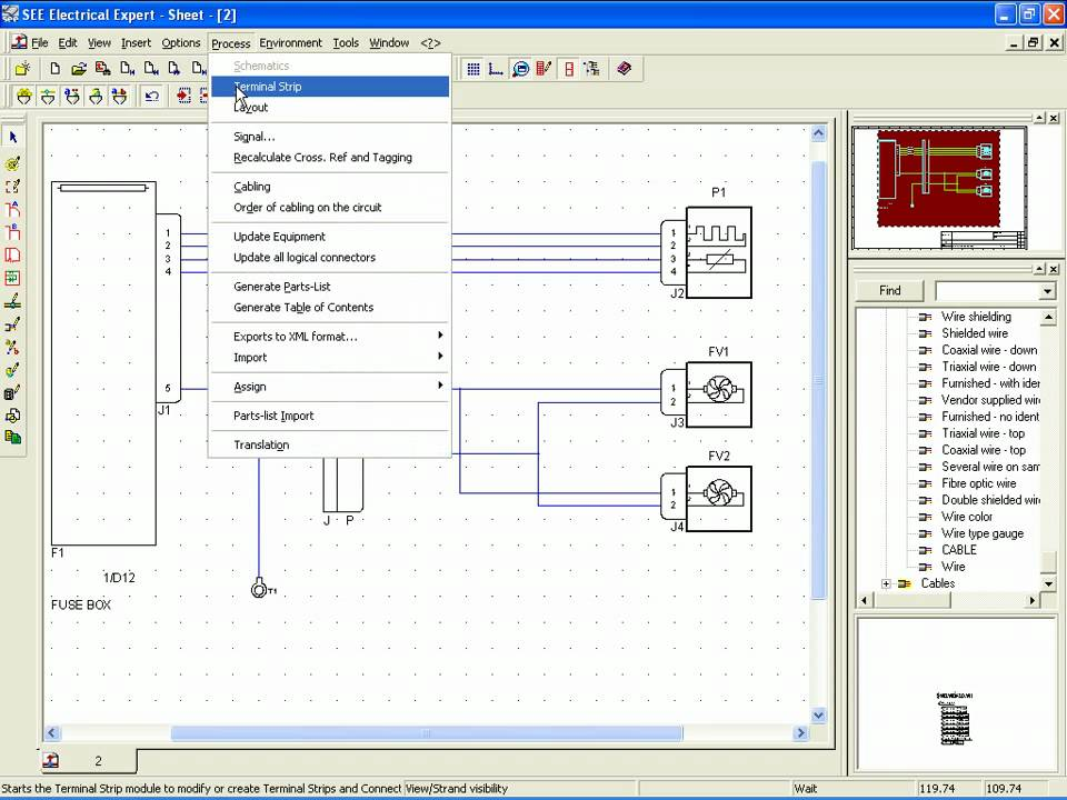 ige xao see electrical harness part2 for catia v5 youtube rh youtube com electronic schematic capture portable electrical schematic cad software