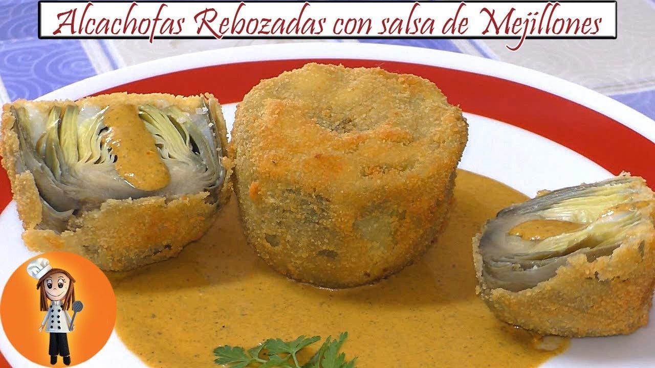 Alcachofas Rebozadas Con Salsa De Mejillones Receta De Cocina En Familia
