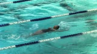 中學學界游泳比賽2012D3(九龍區2)決賽 - 女乙 4x50四式接力  鄭依霖 50背