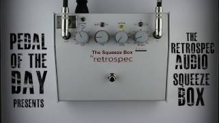 retrospec audio squeeze box compressor limiter effects pedal demo video