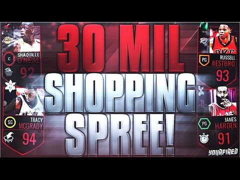 NBA LIVE MOBILE 30 MILLION COIN SHOPPING SPREE! BEST QUALITY ON YT! 95 OVERALL PICKUP + LIT TEAM!