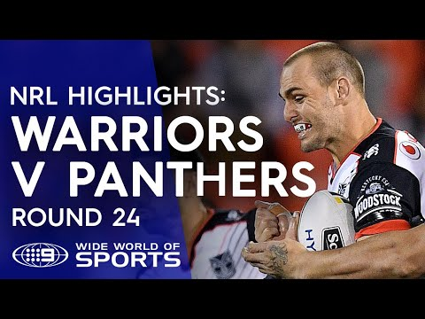 NRL Highlights: Warriors v Penrith Panthers - Round 24