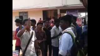 ABVP  mas violent perfomence @ DB college sasthamcotta