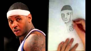 Drawing109- How to draw Carmelo Anthony