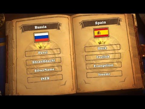 Russia vs Spain - Group C - Match 1 - Hearthstone Global Games