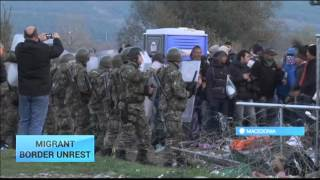 Europe Migrant Crisis: Stranded migrants try to storm into Macedonia, tear down fence