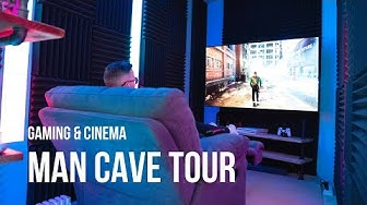 Gaming & Cinema man cave ideas