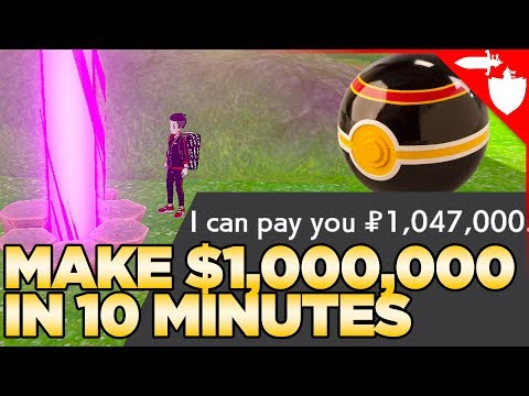 How To Get $1M In 10 Min With Watt Farming In Pokemon Sword And Shield