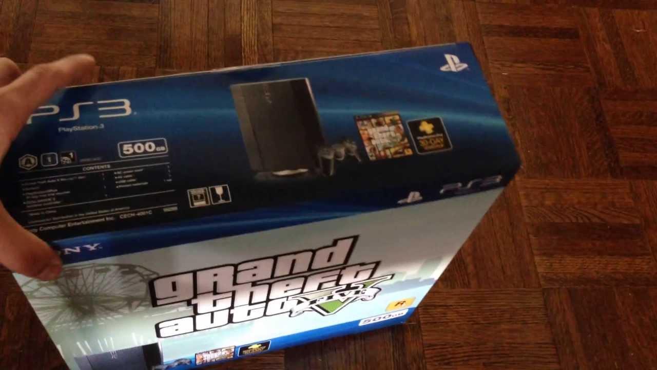GTA V PS3 bundle unboxing
