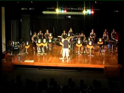 Senior Percussion Ensemble Brighton Secondary School Cairns Tour 2007 Bentley Park Concert #1.mpg