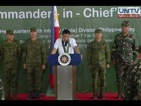 Duterte's visit, a morale booster to 10th Infantry Division troops – Valencia