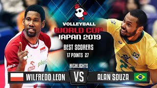 Highlights | Poland vs. Brazil | Wilfredo Leon vs. Alan Souza | World Cup 2019
