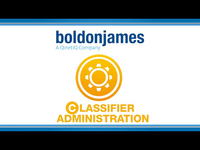 Boldon James | Classifier Administration
