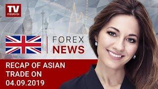InstaForex tv news: 04.09.2019: Fed officials halt USD rally (USDХ, JPY, AUD)