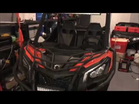 32 Inch Curved Spot Flood Led Lightbar Installed On My Can Am Maverick Trail 1000 Dps Youtube