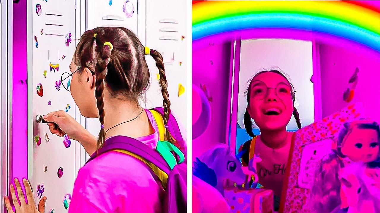 Rainbow School Hacks 🌈 School can be FUN!