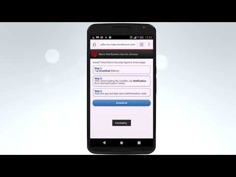Installing the Android Worry Free Business Security Services Agent v1 0