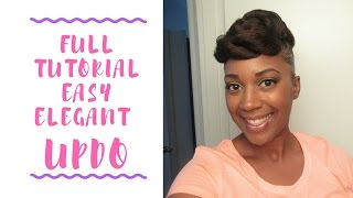 natural hair  full tutorial updo with braiding hair  fine thin low density hair protective style