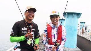 番組初の釣り公園で、これまた番組初登場のじょーじ山本さんと米谷さん...