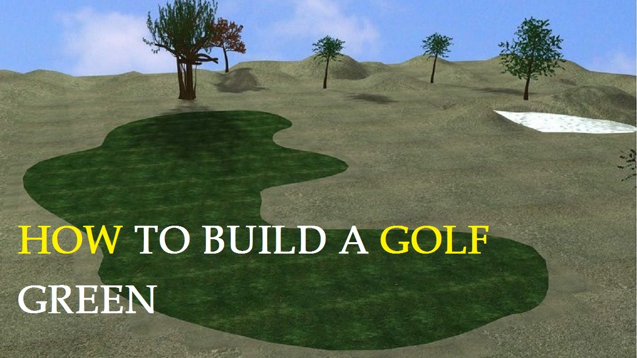 How To Build A Golf Green Youtube