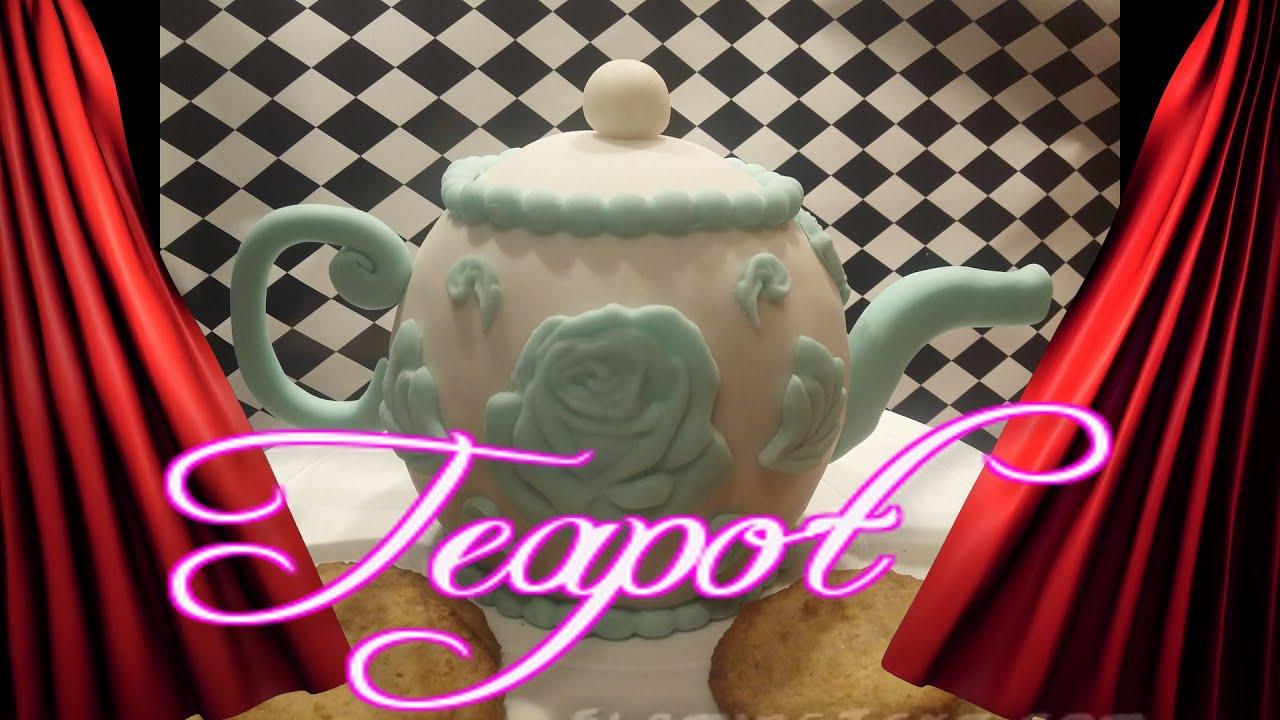 torte dekorieren backen mit fondant teekanne kuchen backen chocolate cake youtube. Black Bedroom Furniture Sets. Home Design Ideas