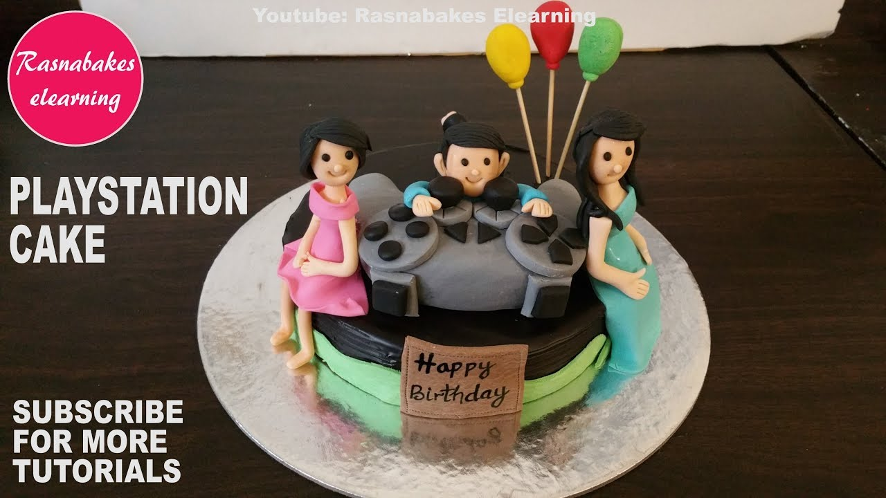 How To Make Playstation Theme Birthday Cake Design3D Ps4 Happy Ideashomemade Videos