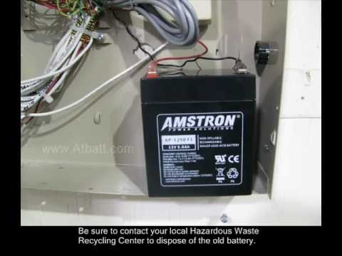 How To Replace Home Alarm Battery Youtube