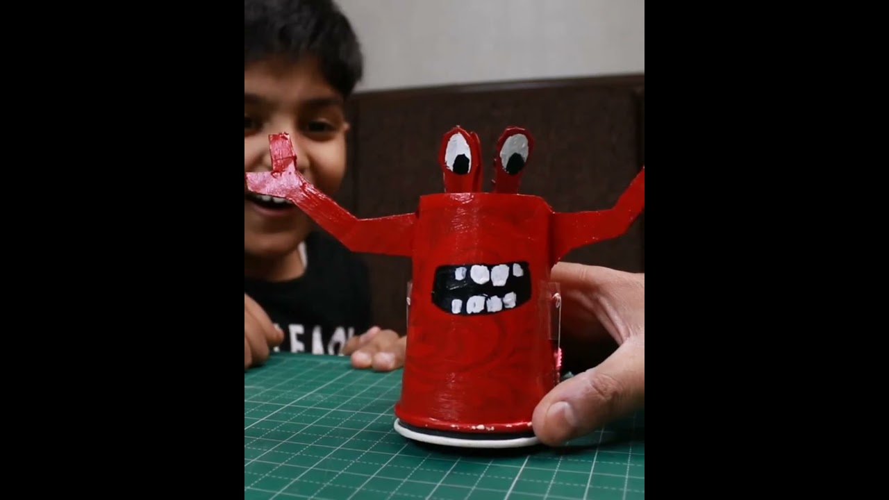 Funny DIY Toy Monster You Can Make in 5 minutes | Easy Kids Craft Idea #shorts