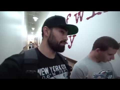 Jason Genova and Nate eating vegan burger and mall walk | Ric Flairening edit