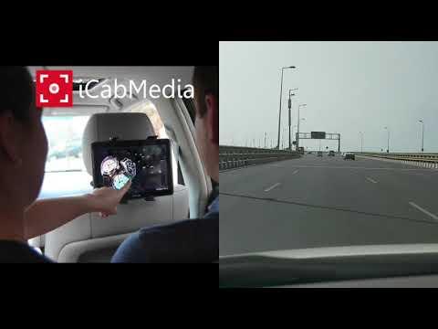 Digital Taxi Cab Advertisement iCabMedia Motion Movie