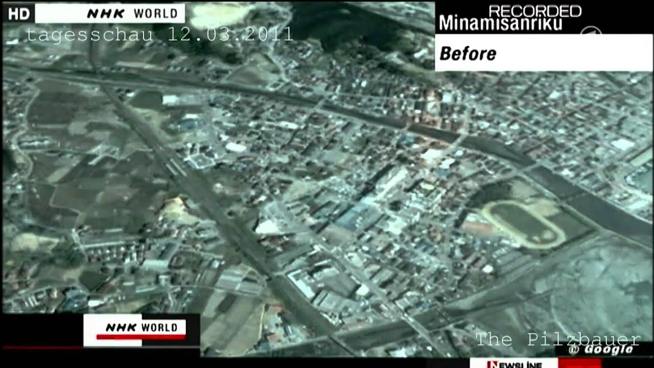 Atomunfall Reaktor Explosion im AKW Fukushima Tokio Japan