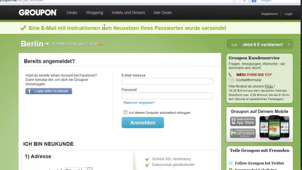 passwort hilfe