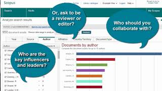 Scopus Tip: Use the analyze search results tool to uncover trends & find collaborators thumbnail