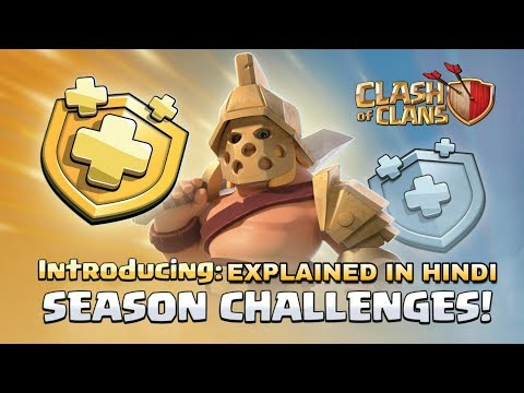 Coc Seasonal Challenges Explained In Hindi | New Royal Pass System In Clash Of Clans 2019