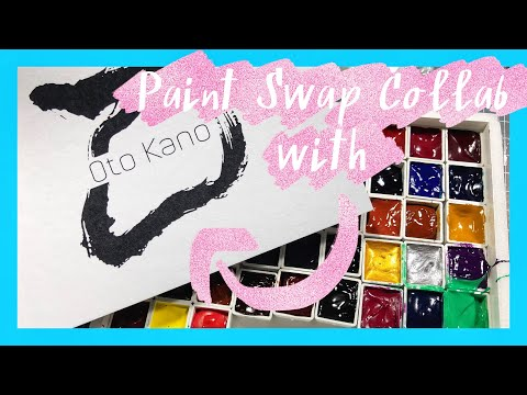 Paint Swap Collab with Oto Kano | Realtime Casual Swatching Holbein, Daniel Smith, and More!