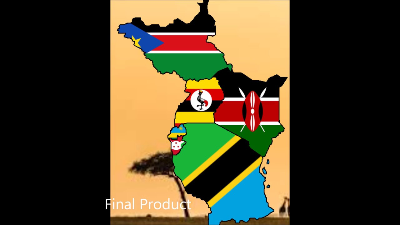 Map Of Africa With Flags.East Africa Flag Map Speedart Youtube