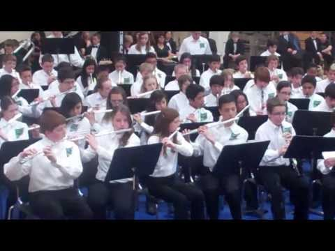 Vortex - by the Clayton Middle School Band at McQueen HS - North West Area Zone Concert Mar 5 2014