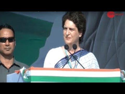 Gujarat: Priyanka Gandhi Vadra addresses Congress Working Committee for the first time